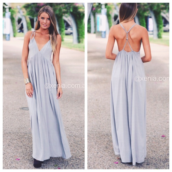 c4db94bb9c0 Xenia Light Gray Maxi