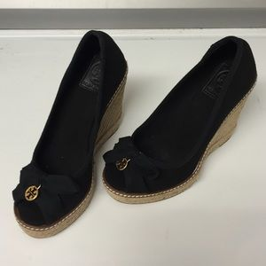 Tory Burch Espadrille Wedges size 5.5