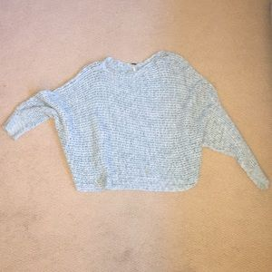 Free People teal • blue oversized knit sweater!