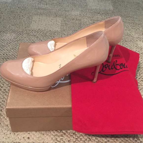 9184fa3eacf Louboutin New Simple Pump 85 Nude Patent Size 37