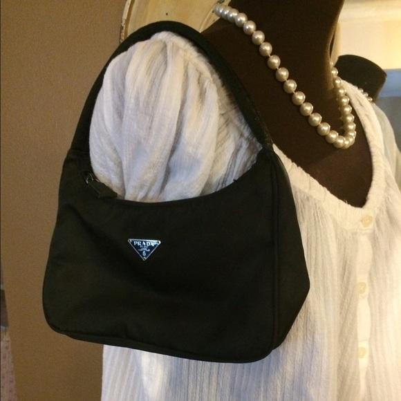 prada white cloth handbag