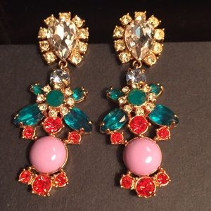 J Crew crystal statement earrings