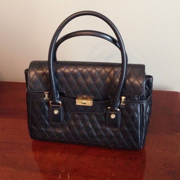 2896239d6b Brooks Brothers Handbags - Brooks Brothers black quilted leather bag