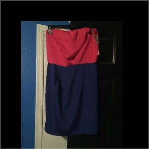 Strapless dress sz L