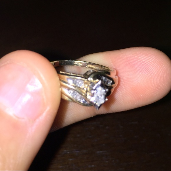 67% off Jewelry 10k gold ring with 1k diamonds from Olivia s closet on