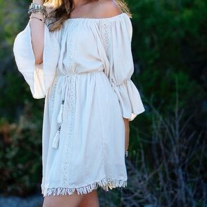 Off the shoulder bohemian dress