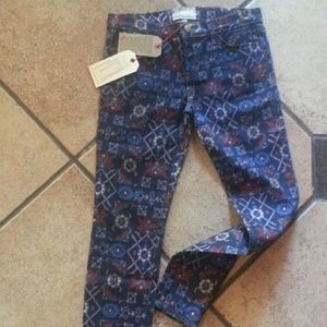 Current Elliott midnight tapestry skinny jeans