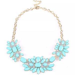 Bright blue statement necklace