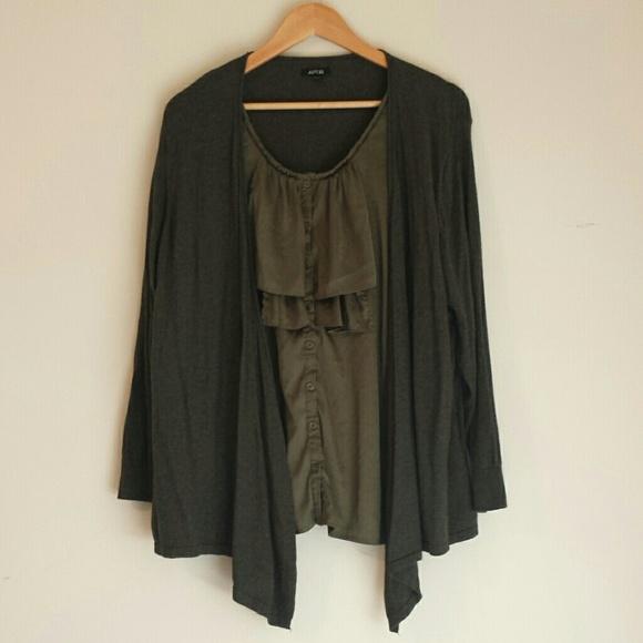Apt 9 tops apt 9 dress shirt with cardigan poshmark for Apartment 9 dress shirts