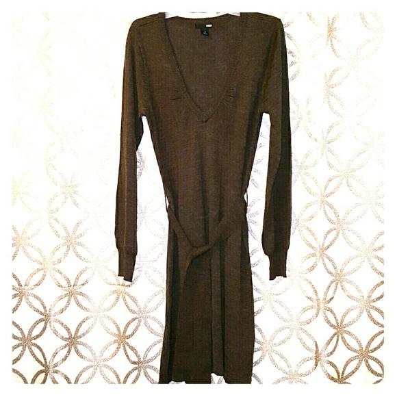 achats bonne vente les dernières nouveautés H&M Brown Sweater Dress