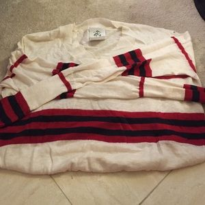 Brooks brother striped linen sweater