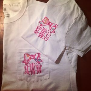 Lily pultizer Monogram bow tee