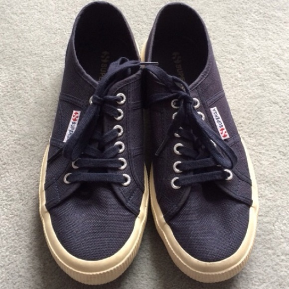 Navy Blue Superga Sneakers 275 Cotu