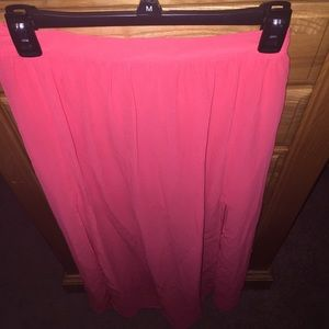 Coral H&M Long Double Side Slitted Maxi Skirt