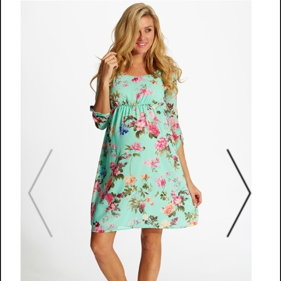 42% off Dresses & Skirts - Mint Floral Maternity Dress from ...