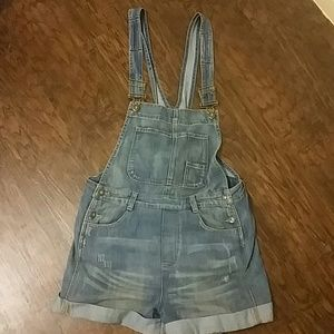 Free People Short Overalls