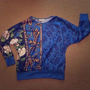 Vintage Pullover Floral Print Top