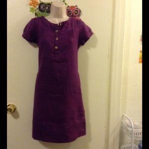 GAP purple linen dress