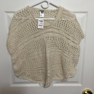 NWT Charlotte Russe XL ivory knit top