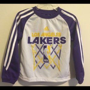 Adidas Other - Lakers Boys Raglan Shirt