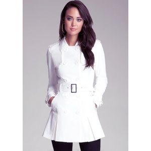 BEBE White Trench Coat