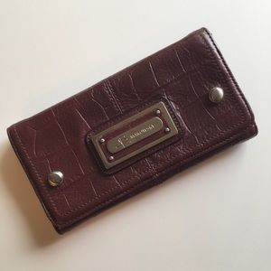 B. MAKOWSKY Brown Leather Wallet