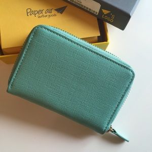 Mint Green Saffiano Leather Wallet
