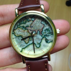 Urban world map watch