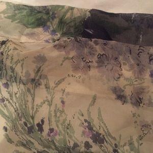 Jill Stuart purple / blue / green flower dress