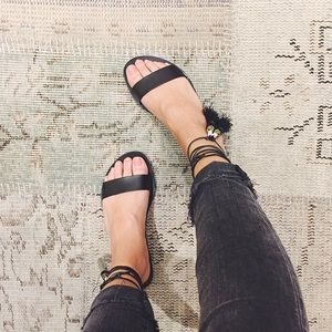 J. Crew Shoes - J. Crew black Tassel Sandals