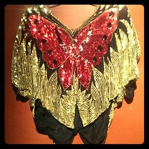 Tops - Indian Butterfly Sparkly Shirt