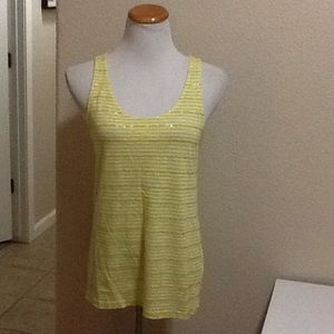 SALE J.Crew  yellow sequins striped tank