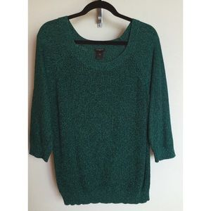 ANN TAYLOR Teal Knit Sweater