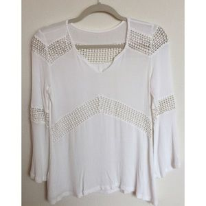 White Crochet Beach Top