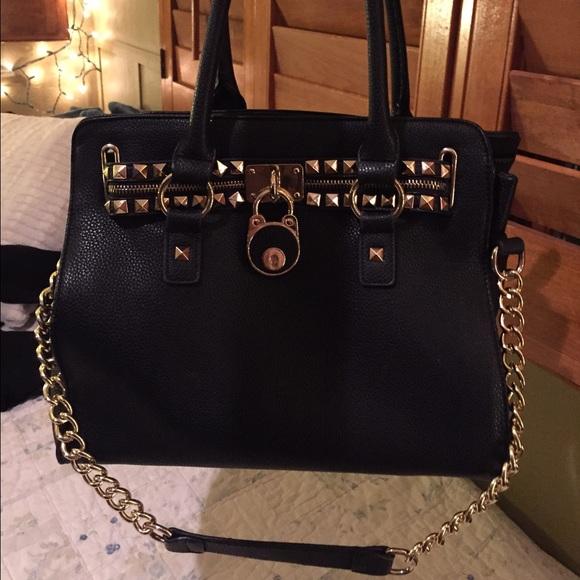 60% off Michael Kors Handbags - Black 🔱 Gold Handbag from J ...