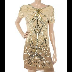 NEW ANTIK BATIK Livia ombré sequin party dress XS