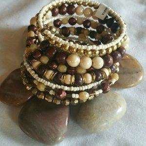 **HOST PICK** Spiral  boho hippie bangle bracelet.