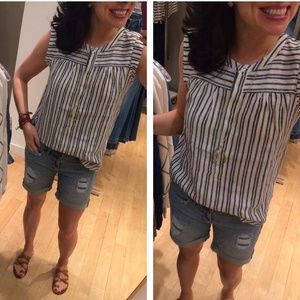 Striped Linen Blouse from LOFT