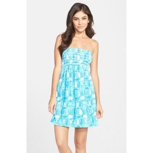 BRAND NEW Lilly Pulitzer smocked strapless dress!