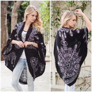 """""""Autumn Song"""" Kimono Cocoon Printed Wrap"""