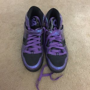 LIKE NEW! High top purple and black Osiris !