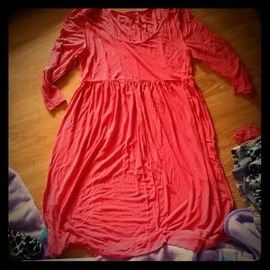 Coral 3/4 sleeve dress
