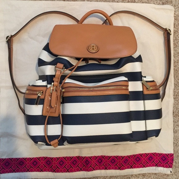 708fdbe5960b Tory Burch Kerrington Awning Stripe Backpack. M 55e7120a47da8100360208db
