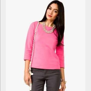 NWT Forever 21 essentials pink 3/4 sleeve top