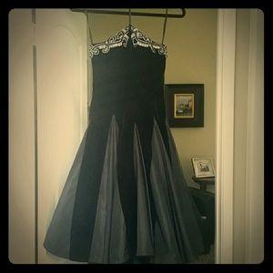 Vintage velvet and taffeta size 4 precious dress