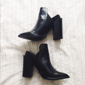 ZARA Leather Slip-On Booties