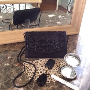 Handbags - Beautiful Beaded Black Evening Bag