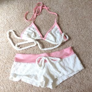 Brand New Butterfly Terry Cloth Short Set S
