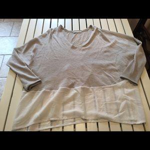 Zara Tan/white blouse