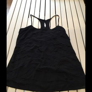 Black scalloped detailed top